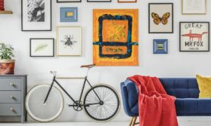 gallery wall of art