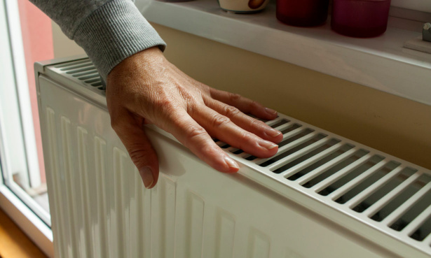 hand on radiator