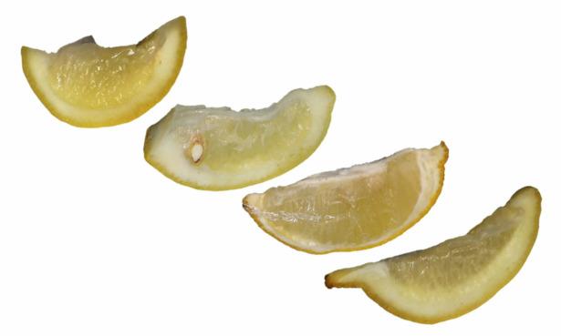 Lemons end end of lemon fresh test.