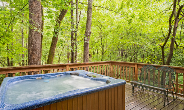 hot tub in woodland
