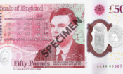 The front and back of the new £50 banknote