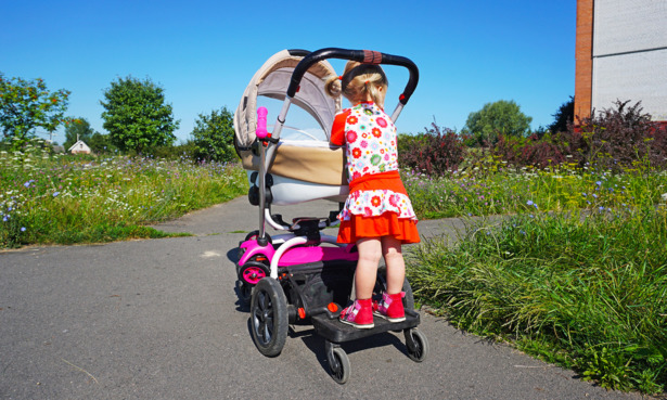 Child on a buggy board