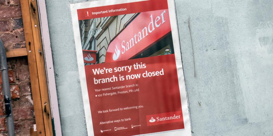 Santander to close 111 bank branches