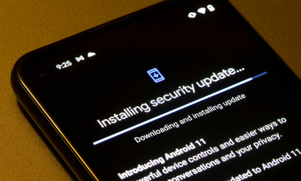 Security update downloading