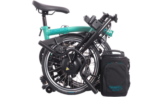 Brompton electric bike folded
