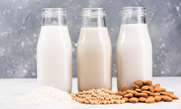 Plant alternatives to milk - such as rice, soya and almond 'milks' - have seen a massive rise in popularity.