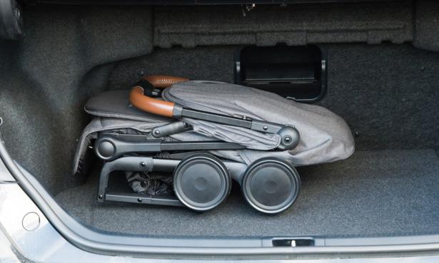 Pushchair in car boot