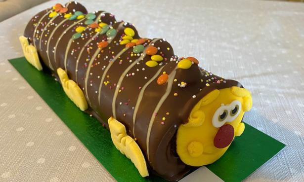 Co-Op Charlie the Caterpillar Cake