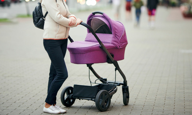 Carrycot on a pushchair