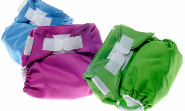 Velcro fastenings on Reusable nappies